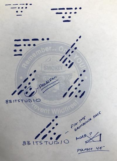 8bitstudio logo brainstorm drawings