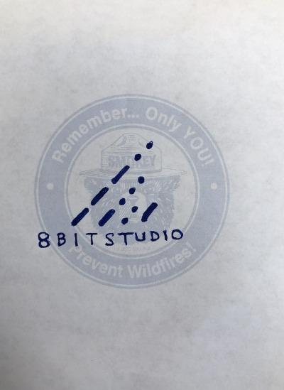 8bitstudio logo drawing example