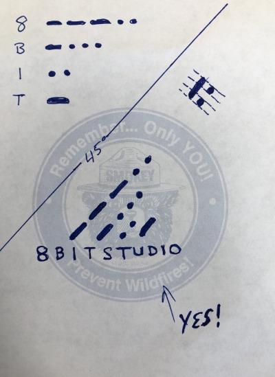 8bitstudio logo drawing ideas